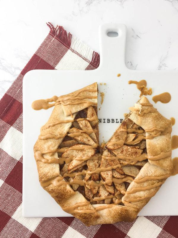 apple galette peanut butter drizzle