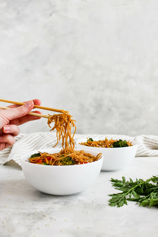 hibachi vegetarian noodle bowls