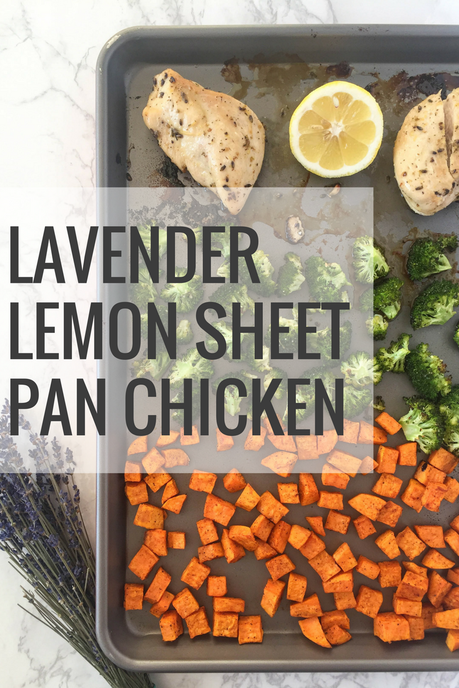 lavender lemon chicken sheet pan