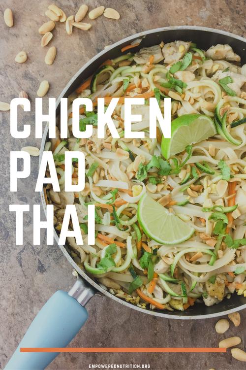chicken pad thai homemade pinterest