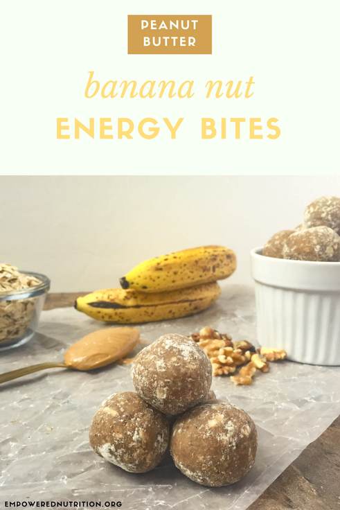 peanut butter banana energy bites pinterest