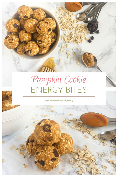 pumpkin cookie energy bites