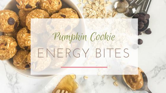 pumpkin cookie energy bites