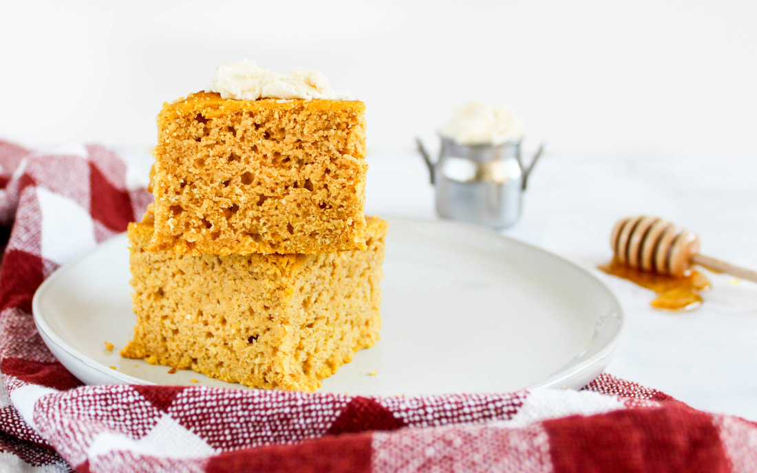 pumpkin cornbread with whipped maple butter