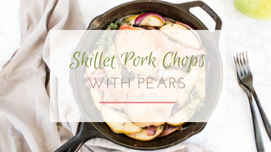 skillet maple glazed pork chops with pears