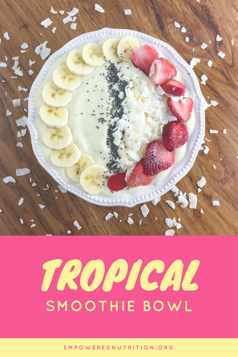 tropical smoothie bowl pin