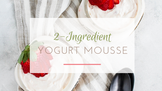 2 ingredient yogurt mousse